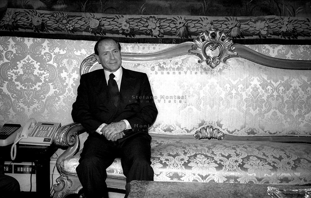 Roma Palazzo Chigi 1994.Silvio Berlusconi Presidente del Consiglio .Silvio Berlusconi President of the Council