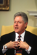 US President Bill Clinton during a White House event December 19, 1997 in Washington, DC.