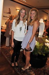 Left to right, OLIVIA HUNT and AMBER NUTTALL at a party to celebrate the launch of the new Mauritius Collection of jewellery by Forbes Mavros held at Patrick Mavros, 104-106 Fulham Road, London SW3 on 5th July 2011.
