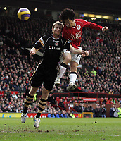 Photo: Paul Thomas.<br /> Manchester United v Charlton Athletic. The Barclays Premiership. 10/02/2007.<br /> <br /> Ji-sung Park scores (R) his goal for Man Utd.