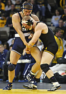 January 29, 2010: Penn State's Clay Steadman and Iowa's Luke Lofthouse in the 197-pound bout at Carver-Hawkeye Arena in Iowa City, Iowa on January 29, 2010. Lofthouse won the match 5-2 and Iowa defeated Penn State 29-6.