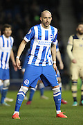Bruno Saltor during the Sky Bet Championship match between Brighton and Hove Albion and Leeds United at the American Express Community Stadium, Brighton and Hove, England on 24 February 2015. Photo by Stuart Butcher.