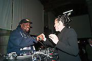 AFRIKA BAMBAATAA; SARAH SZE, The Bronx Museum of the Arts, Tanya Bonakdar Gallery and the Victoria Miro Gallery host a reception and dinner in honor of Sarah Sze: Triple Point. Representing the United States of America at the 55th Biennale di Venezia with the Co  Commissioners of the  U. S. Pavilion Holly Block, Executive Director of the Bronx Museum of the arts  and Carey Lovelace. <br /> <br /> Rialto Fish market. Venice. . 29 May 2013