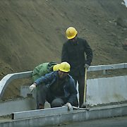Construction Workers in Beijing, China
