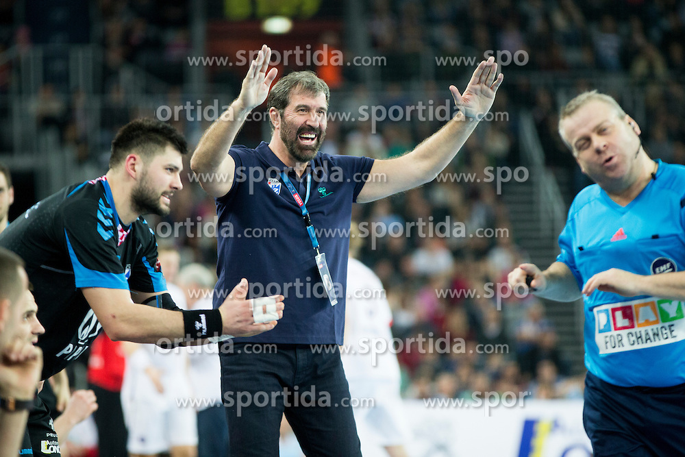Veselin Vujovic, head coach  of HC PPD Zagreb during handball match between PPD Zagreb (CRO) and Paris Saint-Germain (FRA) in 11th Round of Group Phase of EHF Champions League 2015/16, on February 10, 2016 in Arena Zagreb, Zagreb, Croatia. Photo by Urban Urbanc / Sportida
