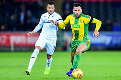 Hal Robson-Kanu of West Bromwich Albion is marked by Martin Olsson of Swansea City- Mandatory by-line: Ryan Hiscott/JMP - 28/11/2018 - FOOTBALL - Liberty Stadium - Swansea, England - Swansea City v West Bromwich Albion - Sky Bet Championship