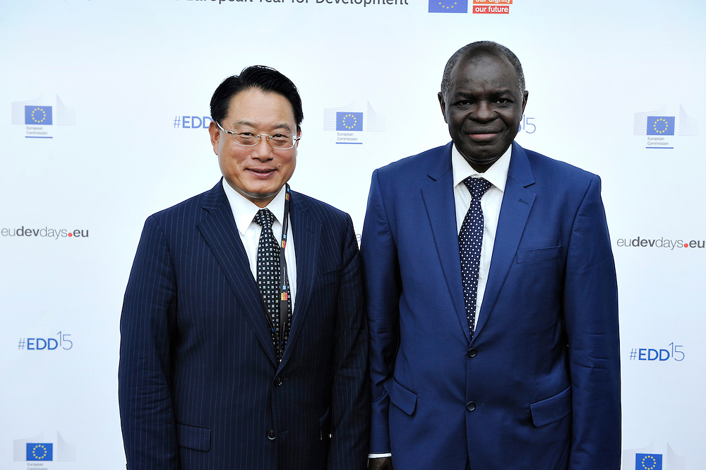 20150604- Brussels - Belgium - 04 June2015 - European Development Days - EDD  - <br /> Belete Tafere Ethiopia and Li Yong<br /> UNIDO &copy; EU/UE