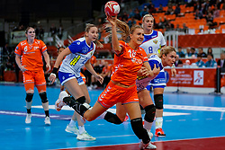 13-12-2019 JAP: Semi Final Netherlands - Russia, Kumamoto<br /> The Netherlands beat Russia in the semifinals 33-22 and qualify for the final on Sunday in Park Dome at 24th IHF Women's Handball World Championship / Kelly Dulfer #18 of Netherlands