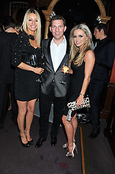 Left to right, TESS DALY, NICK CANDY and OLA JORDAN at the 39th birthday party for Nick Candy in association with Ciroc Vodka held at 5 Cavindish Square, London on 21st Januatu 2012.