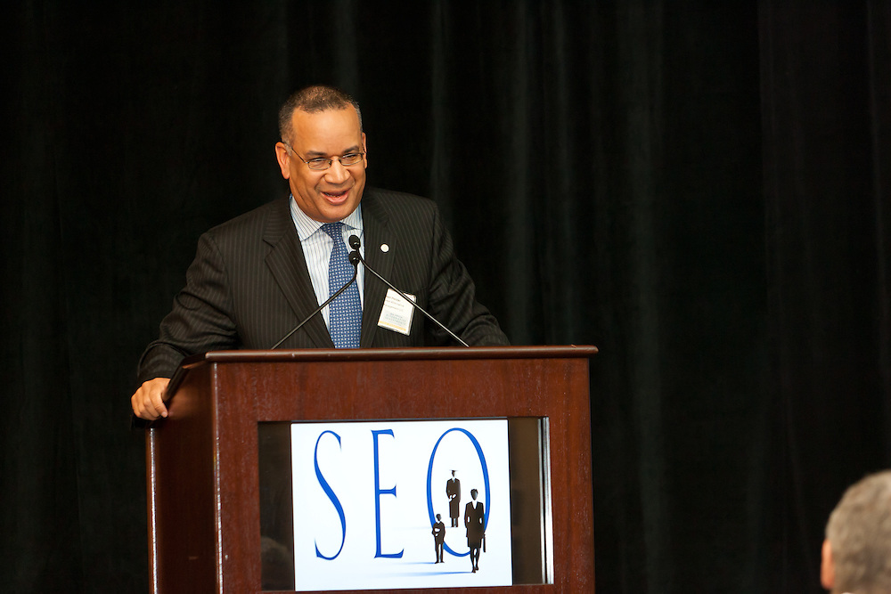 Lofton Holder, Managing Partner, Pine Street Alternative Asset Management LLC speaking at the SEO 2nd Annual Alternative Investment Conference held May 17, 2011 at the Essex House Hotel in New York. Organized by Sponsors for Educational Opportunity (SEO), the conference is part of SEO's Alternative Investments Program, which includes the Alternative Investment Fellowship Program (AIFP), an initiative launched in 2009.  The AIFP is an educational program for young professionals from backgrounds traditionally underrepresented in the alternative investments industry.  The AIFP combines workshops, training and mentoring to strengthen Fellows as candidates for positions in private equity and other alternative investments.  The program also improves Fellows' skills as analysts by exploring strategic decisions involved in transactions from the client's point of view.