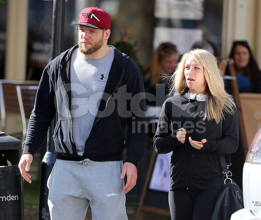 Chloe Madeley and England rugby player boyfriend James Haskell enjoy a lunch in north London. As the super-toned couple Chloe and James left the cafe they joked who's carrying the gym bag which Chloe agreed before leaving arm in arm... UK. 12/03/2015<br /> BYLINE MUST READ : JAMESY/GOTCHA IMAGES<br /> <br /> Copyright by &copy; Gotcha Images Ltd. All rights reserved.<br /> Usage of this image is conditional upon the acceptance <br /> of Gotcha Images Ltd, terms and conditions available at<br /> www.gotchaimages.com