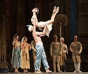 La Bayad&egrave;re<br /> The Mariinsky Ballet <br /> at The Royal Opera House, London, Great Britain <br /> rehearsal <br /> 11th August 2011 <br /> <br /> Sergey Salikov (as The Slave)<br /> <br /> Uliana Lopatkina (as Nikiya, a bayadere)<br /> Photograph by Elliott Franks