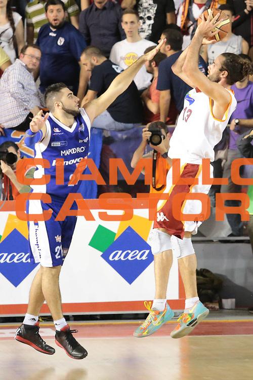 DESCRIZIONE : Roma Lega A 2012-2013 Acea Roma Lenovo Cantu playoff semifinale gara 1<br /> GIOCATORE : Luigi Datome<br /> CATEGORIA : tiro controcampo<br /> SQUADRA : Acea Roma<br /> EVENTO : Campionato Lega A 2012-2013 playoff semifinale gara 1<br /> GARA : Acea Roma Lenovo Cantu<br /> DATA : 24/05/2013<br /> SPORT : Pallacanestro <br /> AUTORE : Agenzia Ciamillo-Castoria/M.Simoni<br /> Galleria : Lega Basket A 2012-2013  <br /> Fotonotizia : Roma Lega A 2012-2013 Acea Roma Lenovo Cantu playoff semifinale gara 1<br /> Predefinita :