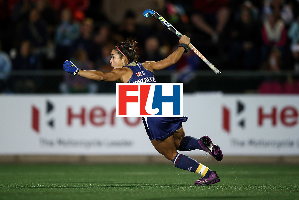 JOHANNESBURG, SOUTH AFRICA - JULY 20:  Melissa Gonzalez of United States of America celebrates scoring the winning goal in the shoot out during day 7 of the FIH Hockey World League Women's Semi Finals semi final match between England and United Staes of America at Wits University on July 20, 2017 in Johannesburg, South Africa.  (Photo by Jan Kruger/Getty Images for FIH)