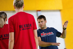 Uros Bregar during practice session of handball club RK Krim Mercator  at the beginning of new season 2012/13, on August 21, 2012 in Arena Stozice, Ljubljana, Slovenia. (Photo by Vid Ponikvar / Sportida.com)