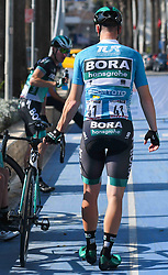 October 12, 2018 - Selcuk, Turkey - Sam Bennett of Ireland and Bora - Hansgrohe Team ahead of the start of the fourth stage - the Sportoto Stage 205.5km Marmaris - Selcuk, of the 54th Presidential Cycling Tour of Turkey 2018. .On Friday, October 12, 2018, in Selcuk, Turkey. (Credit Image: © Artur Widak/NurPhoto via ZUMA Press)
