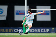 Maxime MACHENAUD (Racing Metro 92) scored a penalty (score 13-7) just before half time during the European Rugby Champions Cup, Pool 4, Rugby Union match between Racing 92 and Munster Rugby on January 14, 2018 at U Arena stadium in Nanterre, France - Photo Stephane Allaman / ProSportsImages / DPPI
