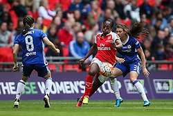 Danielle Carter of Arsenal Ladies under pressure from Hannah Blundell of Chelsea Ladies - Mandatory byline: Jason Brown/JMP - 14/05/2016 - FOOTBALL - Wembley Stadium - London, England - Arsenal Ladies v Chelsea Ladies - SSE Women's FA Cup