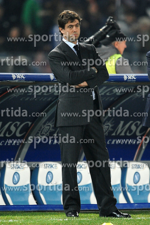 29.11.2011, Stadion San Paolo, Neapel, ITA, Serie A, SSC Neapel vs Juventus Turin, 13. Spieltag, im Bild Andrea AGNELLI Presidente della Juventus // during the football match of Italian 'Serie A' league, 13th round, between SSC Neapel and Juventus Turin at San Paolo stadium, Naples, Italy on 2011/11/29. EXPA Pictures © 2011, PhotoCredit: EXPA/ Insidefoto/ Andrea Staccioli..***** ATTENTION - for AUT, SLO, CRO, SRB, SUI and SWE only *****