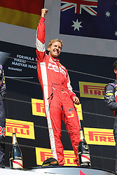 26.07.2015, Hungaroring, Budapest, HUN, FIA, Formel 1, Grand Prix von Ungarn, Rennen, im Bild Sebastian Vettel (Scuderia Ferrari) // during the race of the Hungarian Formula One Grand Prix at the Hungaroring in Budapest, Hungary on 2015/07/26. EXPA Pictures © 2015, PhotoCredit: EXPA/ Eibner-Pressefoto/ Bermel<br /> <br /> *****ATTENTION - OUT of GER*****