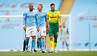 Football - 2019 / 2020 Premier League - Manchester City vs Norwich City<br /> <br /> Kevin De Bruyne of Manchester City celebrates at the Etihad Stadium.<br /> <br /> COLORSPORT/LYNNE CAMERON