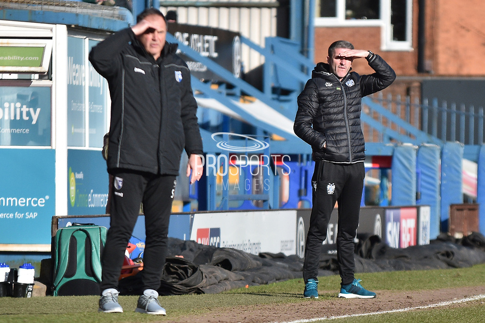 Bury Manager, Ryan Lowe  during the EFL Sky Bet League 1 match between Bury and Gillingham at the JD Stadium, Bury, England on 24 February 2018. Picture by Mark Pollitt.