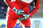 Goalkeeper gloves during the Ladbrokes Scottish Premiership match between St Mirren and Hibernian at the Paisley 2021 Stadium, St Mirren, Scotland on 27 January 2019.