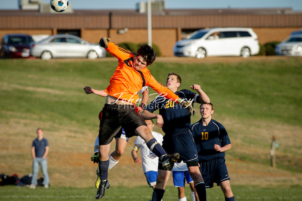 April 17, 2014.  <br /> MCHS Varsity Boys Soccer vs Rappahannock.