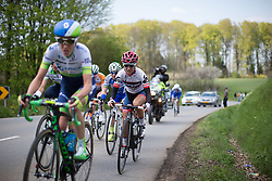 Ashleigh Moolmann-Pasio (RSA) of Cervélo-Bigla Cycling Team rides in the chasing group during the second, 110.1km road race stage of Elsy Jacobs - a stage race in Luxembourg in Garnich on May 1, 2016.