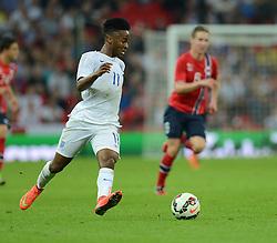 England's Raheem Sterling (Liverpool) - Photo mandatory by-line: Alex James/JMP - Mobile: 07966 386802 - 3/09/14 - SPORT - FOOTBALL - London - Wembley Stadium - England v Norway - International Friendly