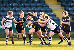 Meg Varley of Worcester Warriors Women is tackled - Mandatory by-line: Robbie Stephenson/JMP - 01/12/2019 - RUGBY - Sixways Stadium - Worcester, England - Worcester Warriors Women v Bristol Bears Women - Tyrrells Premier 15s