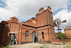 © Licensed to London News Pictures. 01/12/2013. London, UK. Image date: 28 August 2012. A general view of the exterior of the Wapping Project (formerly the Wapping Hydraulic Power Station). The Wapping Project restaurant and art space will close at the end of 2013. Photo credit : Vickie Flores/LNP