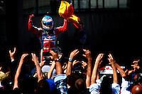 MOTORSPORT - F1 2013 - GRAND PRIX OF SPAIN / GRAND PRIX D'ESPAGNE - BARCELONA (ESP) - 10 TO 12/05/2013 - PHOTO : JEAN MICHEL LE MEUR / DPPI - ALONSO FERNANDO (SPA) - FERRARI F138 - AMBIANCE PORTRAIT / VICTORY