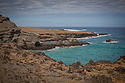 Papakolea Beach (Green Sand Beach or Mahana Beach) on the island of Hawaii in July of 2011.