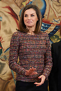 022718 Queen Letizia attends audiences at Zarzuela Palace