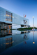 President Bill Clinton Library in Little Rock, Arkansas at sunrise