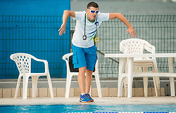 Luka Berdajs, coach during practice session of Slovenian Swimming National Team, on June 7, 2017 in Zusterna, Koper / Capodistria, Slovenia. Photo by Vid Ponikvar / Sportida