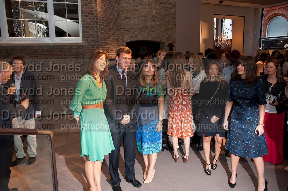 SAMANTHA CAMERON; PADDY BYNG; ALEXANDRA SHULMAN; ISABEL SPEARMAN,  Vogue Fashion night out.- Alexandra Shulman and Paddy Byng are host a party  to celebrate the launch for FashionÕs Night Out At Asprey. Bond St and afterwards in the street. London. 8 September 2011. <br />  <br />  , -DO NOT ARCHIVE-© Copyright Photograph by Dafydd Jones. 248 Clapham Rd. London SW9 0PZ. Tel 0207 820 0771. www.dafjones.com.<br /> SAMANTHA CAMERON; PADDY BYNG; ALEXANDRA SHULMAN; ISABEL SPEARMAN,  Vogue Fashion night out.- Alexandra Shulman and Paddy Byng are host a party  to celebrate the launch for Fashion's Night Out At Asprey. Bond St and afterwards in the street. London. 8 September 2011. <br />  <br />  , -DO NOT ARCHIVE-© Copyright Photograph by Dafydd Jones. 248 Clapham Rd. London SW9 0PZ. Tel 0207 820 0771. www.dafjones.com.