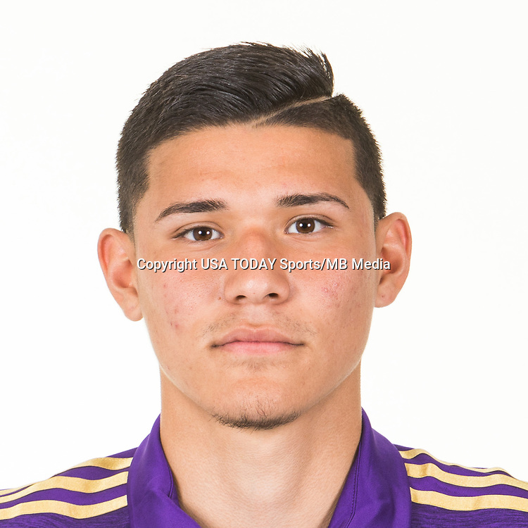 Feb 25, 2017; USA; Orlando City SC player Pierre DaSilva poses for a photo. Mandatory Credit: USA TODAY Sports