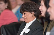 1849738th Annual Classified Service Awards Reception..40 years of Service:..Patricia Thompson smiles during standing ovation