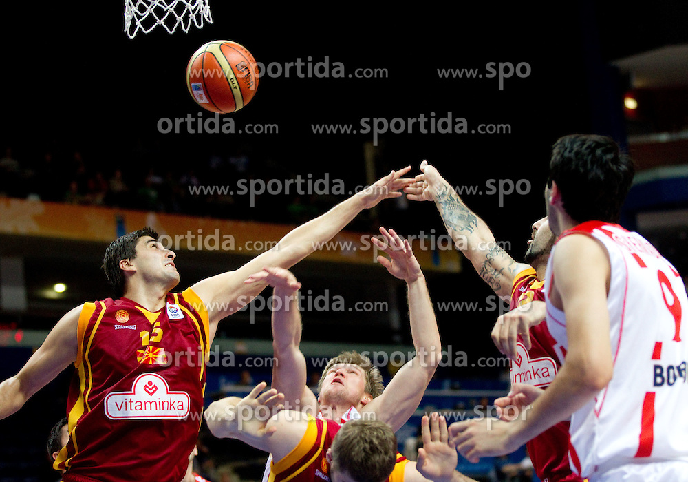 Predrag Samardziski of Macedonia vs Anatoli Boisa of Georgia during basketball game between National basketball teams of  Georgia and Former Yugoslav Republic of Macedonia at FIBA Europe Eurobasket Lithuania 2011, on September 8, 2011, in Siemens Arena,  Vilnius, Lithuania. (Photo by Vid Ponikvar / Sportida)