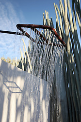 NAMIBIA ETOSHA 1MAY14 - African outdoor shower at the Namutoni resort, Etosha National Park, Namibia.<br /> <br /> <br /> <br /> jre/Photo by Jiri Rezac<br /> <br /> <br /> <br /> © Jiri Rezac 2014