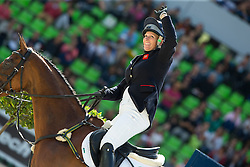 Zara Phillips, (GBR), High Kingdom - Jumping Eventing - Alltech FEI World Equestrian Games™ 2014 - Normandy, France.<br /> © Hippo Foto Team - Leanjo De Koster<br /> 31-08-14