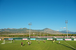 PODGORICA, MONTENEGRO - Thursday, September 2, 2010: Wales' players during a training session at the Montenegro FA Technical Centre ahead of the UEFA Euro 2012 Qualifying Group 4 match against Montenegro. (Pic by David Rawcliffe/Propaganda)