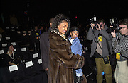 Kim Porter and  Christian,Sean John fashion show.Bryant Park, New York. 4/2/00<br />© Copyright Photograph by Dafydd Jones 66 Stockwell Park Rd. London SW9 0DA Tel 0171 733 0108 www.dafjones.com