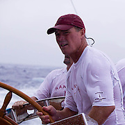 Earl Williams driving J-class Ranger at the Antigua Classic Yacht Regatta