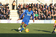 AFC Wimbledon striker Dominic Poleon (10) in action during the EFL Sky Bet League 1 match between AFC Wimbledon and Millwall at the Cherry Red Records Stadium, Kingston, England on 2 January 2017. Photo by Stuart Butcher.