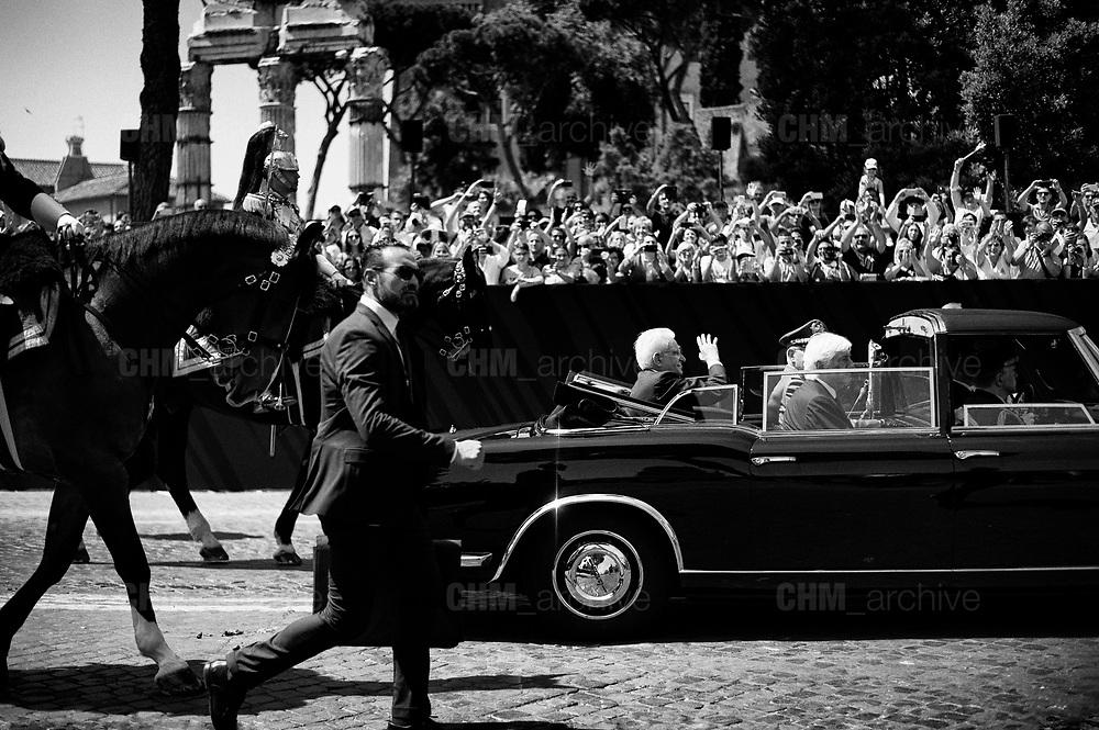 Sergio Mattarella. Republic Day, ceremony to mark the anniversary of the Italian Republic on June 02, 2018 in Rome, Italy. Christian Mantuano / OneShot