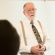 Rev. Don Skinner, Executive Director of Phoenix Employment Ministry teaches a class at Cape Fear Community College Monday February 3, 2014. (Jason A. Frizzelle)