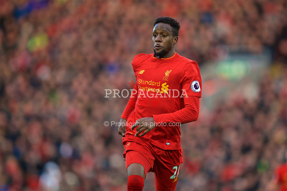 LIVERPOOL, ENGLAND - Sunday, March 12, 2017: Liverpool's Divock Origi in action against Burnley during the FA Premier League match at Anfield. (Pic by David Rawcliffe/Propaganda)